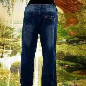 Sebrina Love Bridals LLC / Sebrina Love Jeans - Custom Order Rose Vine Applique Jeans